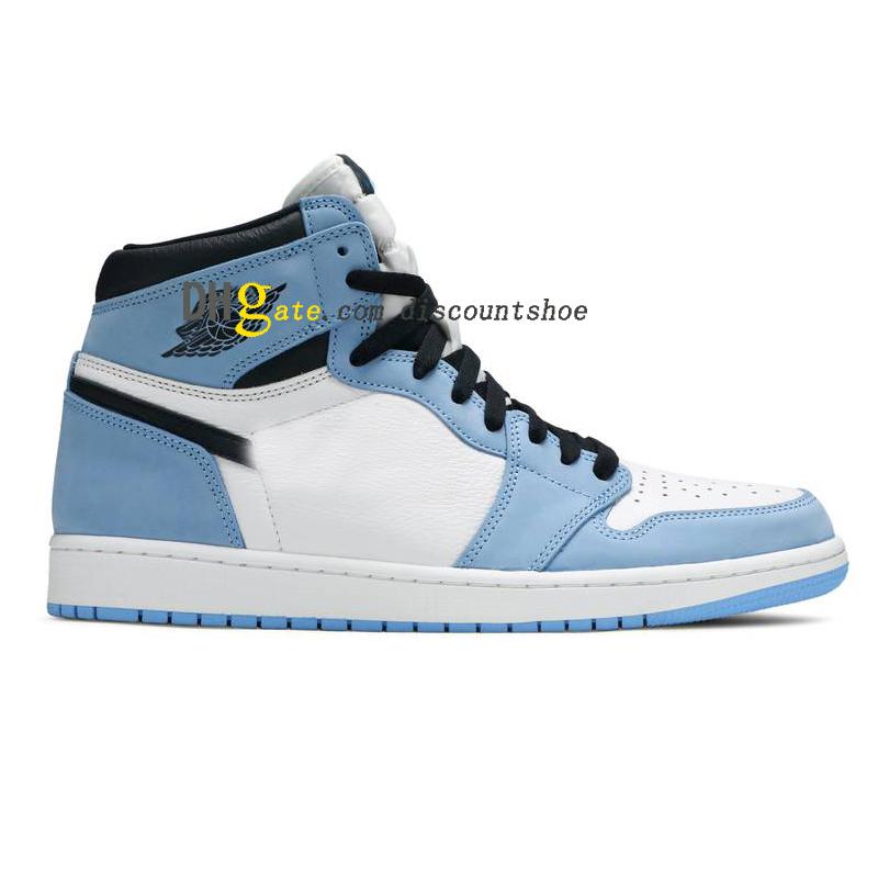 1 High OG University Blue Basketball shoes 1s Sneakers 555088 134