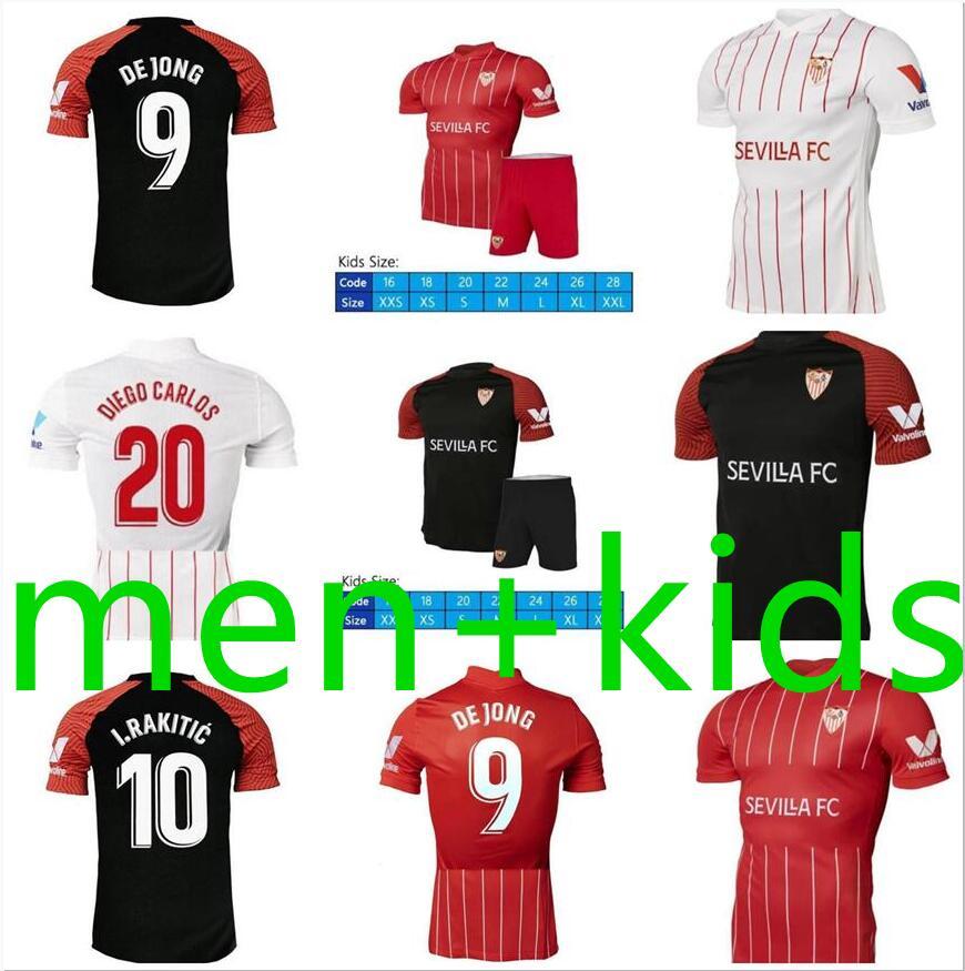 21 22 Sevilla Fc Soccer Jerseys Suso Y En Nesyri 2021 2022 Ocampos Rakitic De Jong Munir Football Shirt Oliver Kounde Oscar Men Jersey Kid Black Yellow Buy At The Price Of 16 92