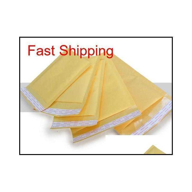 kraft paper envelopes air mail air bags packing pe bubble cushioning padded envelopes gift wrap newest 110mm*130mm 4.3*5.1inch drop