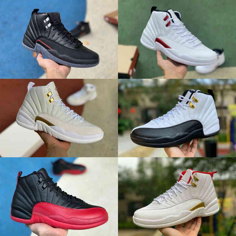 Jumpman Twist 12 12s Mens High Basketball Shoes Utility Grind Indigo Flu Game Royalty JORDÁN OVO White Playoff Fiba Gamma Blue Bulls Royalty Playoff Trainer Sneakers