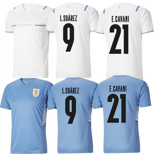 2021 Uruguay L.Suárez 9 De Arrascaeta 10 soccer jerseys home away local blue jersey shirt yakuda E.Cavani 21 D.Godín 3 R.Bentancur 6 J.M.Giménez 2 Football Uniforms