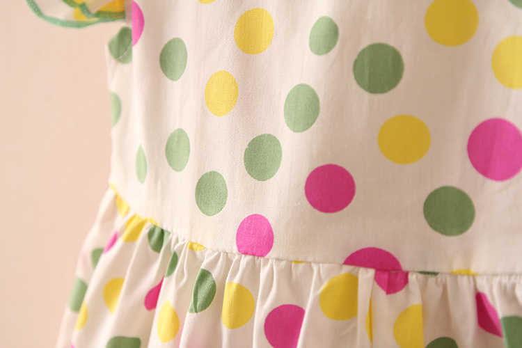 Summer 2-10 Years Beautiful Pretty Sweet Children Baby Kids Pleat Short Fly Sleeve Party Prom Polka Dot Dresses For Girls (17)