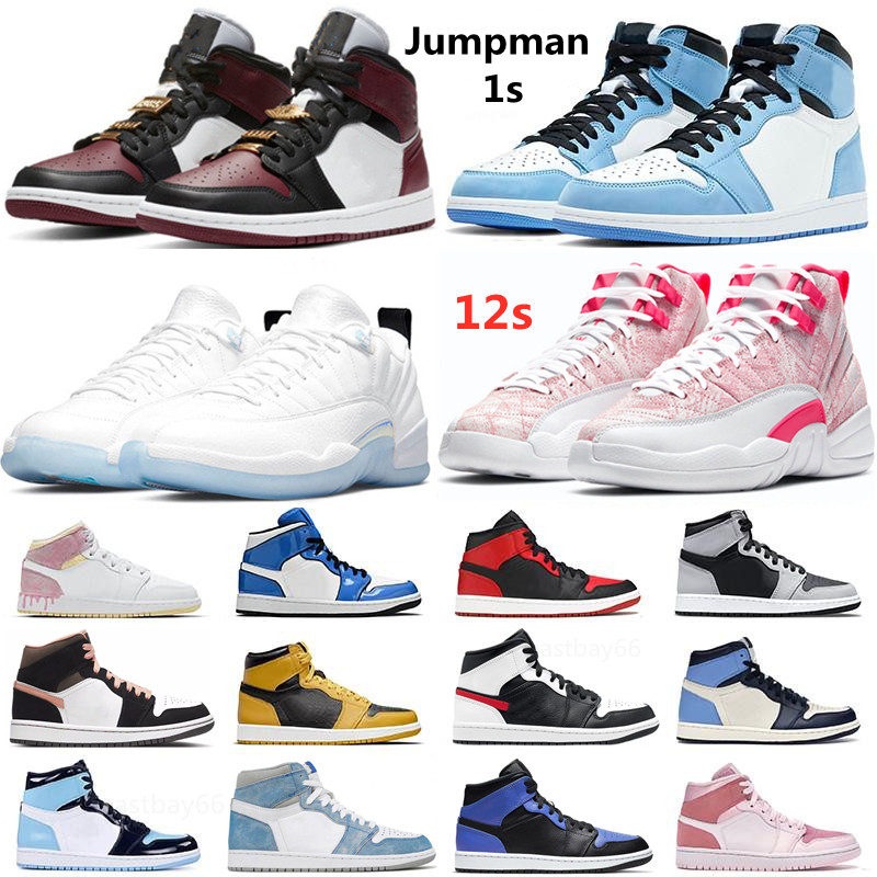 Top quality Jumpman 1 1s Basketball Shoes Hyper Royal Light Smoke Grey Dark Mocha University Blue Chicago Shadow Black Beetroot 12 12s Low Easter Ice Cream Sneakers