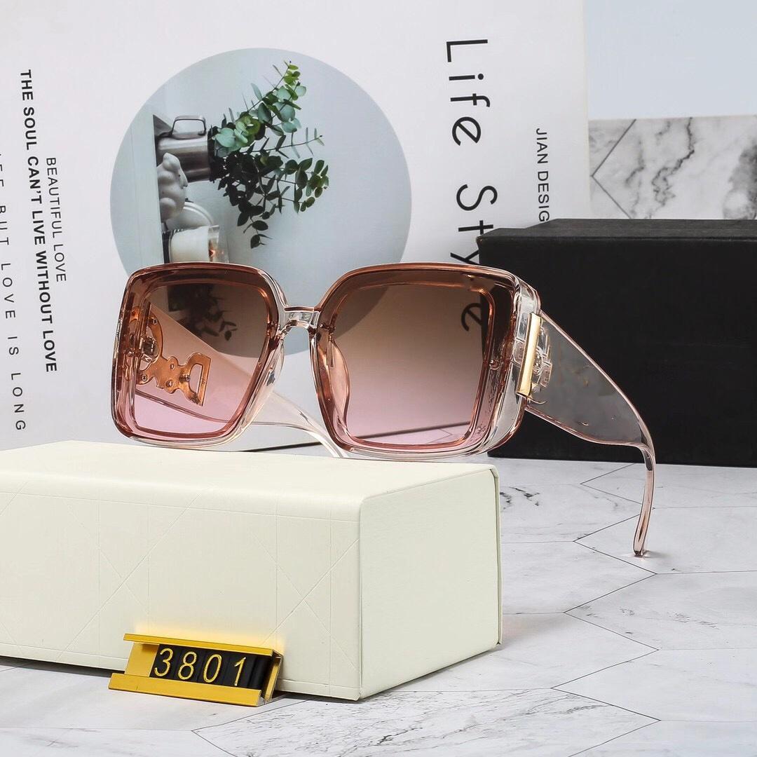 3801 Designer Sunglass Women Eyeglasses Outdoor Shades PC Frame Fashion Classic Lady Sun glasses Mirrors for Womens Luxury Sunglasses
