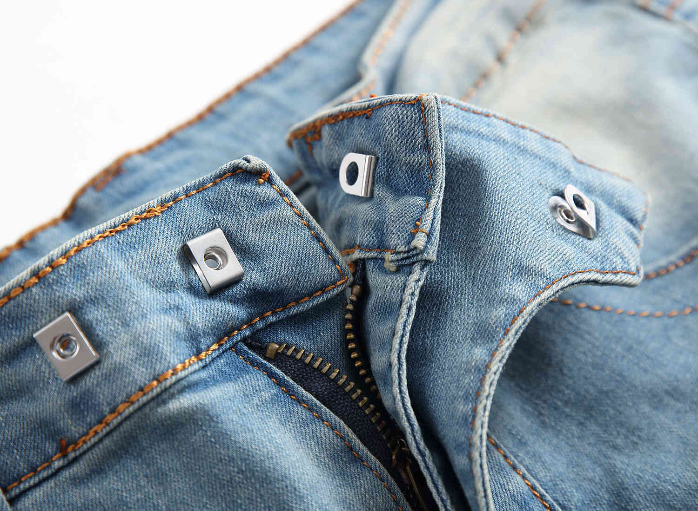 Skinny Mens Distressed Ripped Jeans Cool Men Jeans Stretch Slim Fit Denim Biker Jeans Hip Hop Men Streetwear 170#