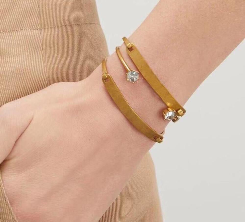 Letter Bangle Brass Material Bracelets Retro Avant-garde Beauty Mandatory Three Ring Split Bracelet Fashion Jewelry