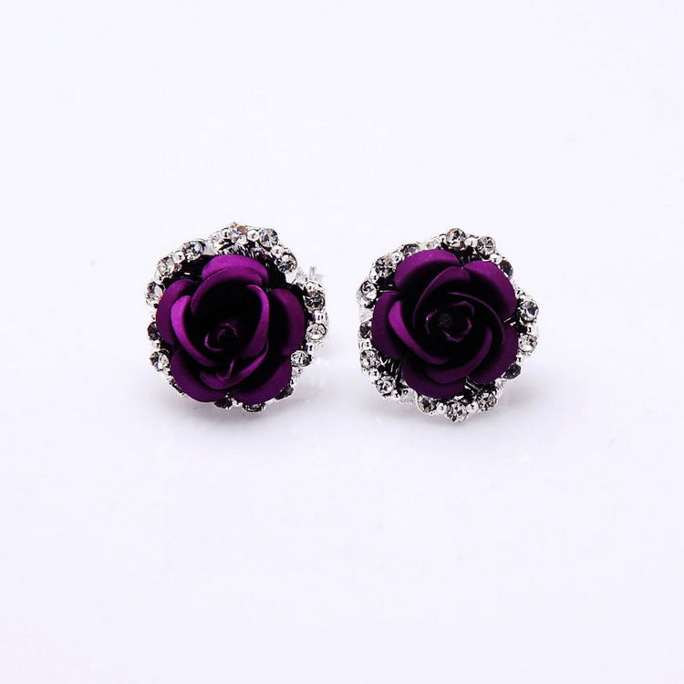 Designer Earrings Jewelry Stud Rose flower earring Love Carti Ring van bracelet a4
