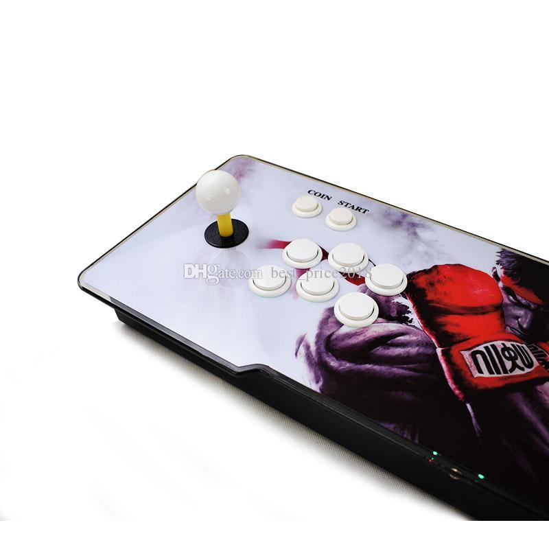 Pandora 5S Can Store 1299 1388 Games Arcade Console HD Output LED Lighted Acrylic Surface Replace Sanwa Joystick PCB Board Arcade Console