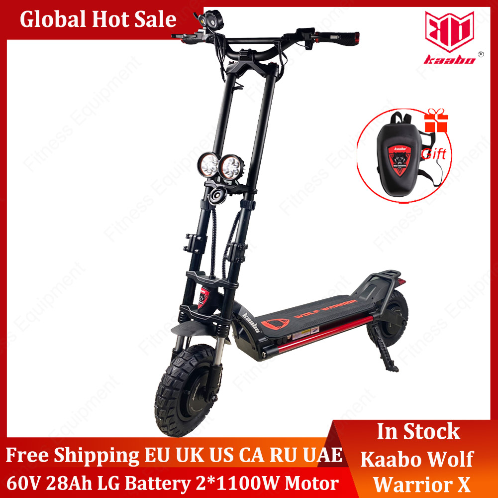 Original Kaabo Wolf Warrior X scooter 10inch 60V 28AH LG Battery Top speed 70km/h Electric Scooter with Hydraulic shock absorption
