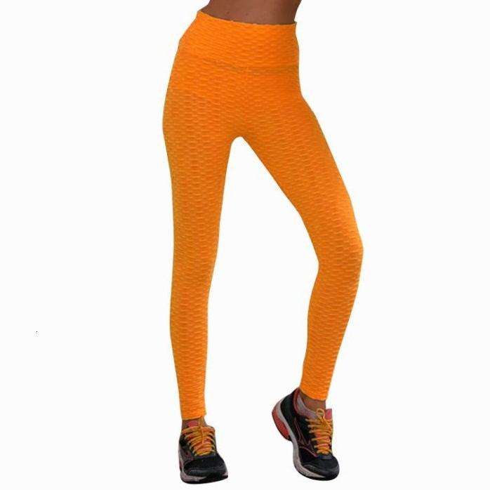 Womens sweatpants gym leggings Breathable jacquard yoga pants women fluorescent color sexy hip-lifting sports leggings women