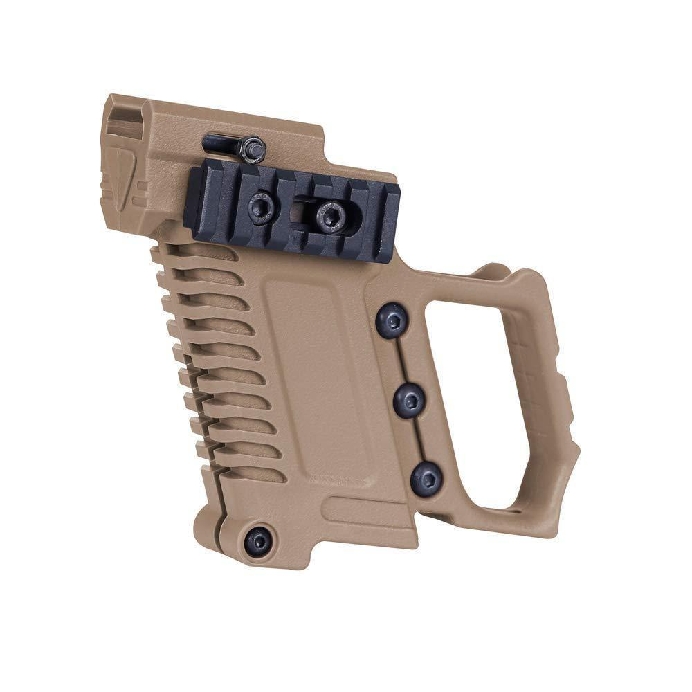 Tactical ABS Pistol Carbine Kit Mount W/Rail Panel for G17 G18 G19 GBB Series Accessorie