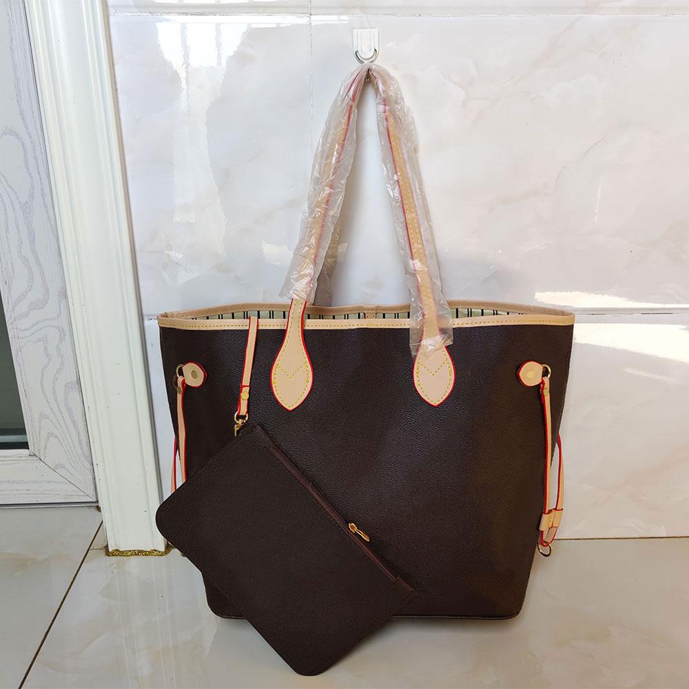 2pcs sets Luxury Womans shoulder bags purse two-piece designer Totes Fashion flower handbag wallets messenger PU handbags 32CM shop bag M40156 glitter2009