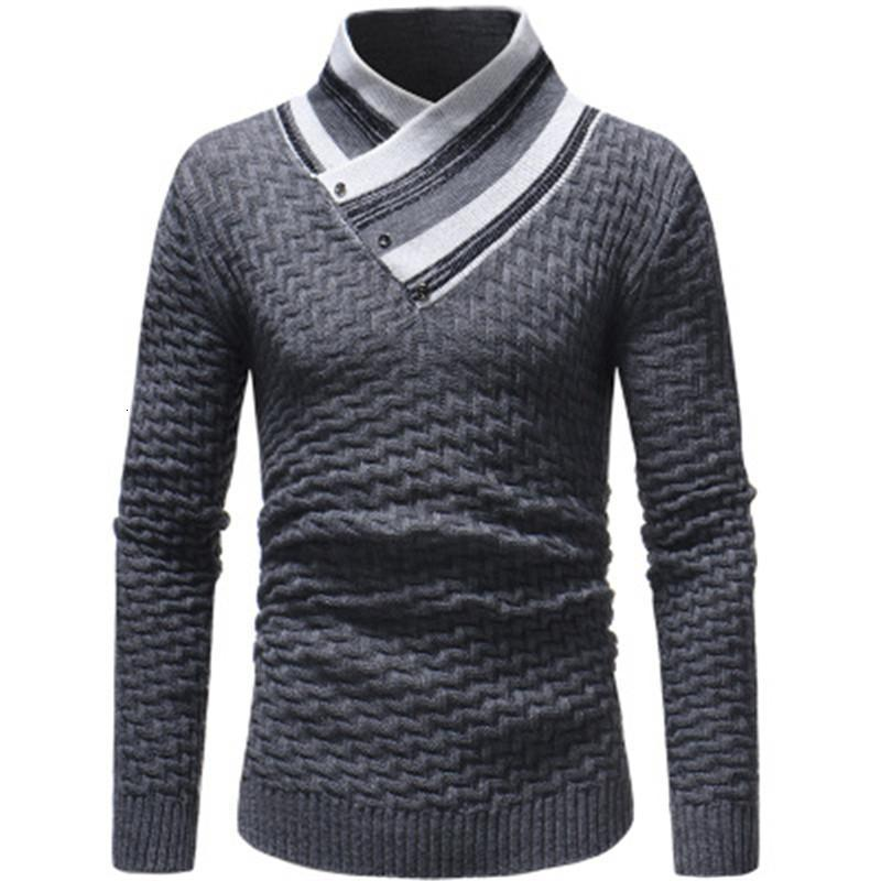 Man Diamond Knitting Sweaters Fashion Trend Long Sleeve High Neck Pullover Sweater Designer Male Autumn New Casual Slim Bottoming Tops