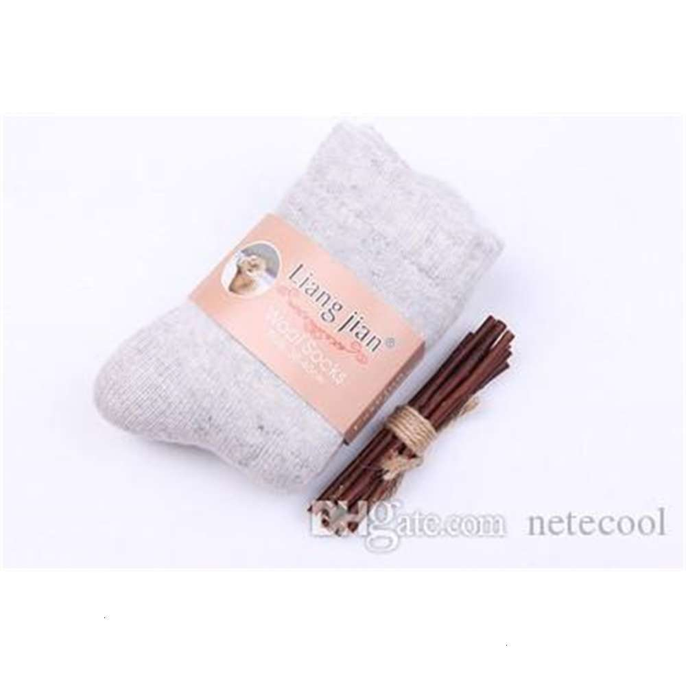=winter Thick rabbit wool socks women's winter tube terry socks solid color super thick snow socks