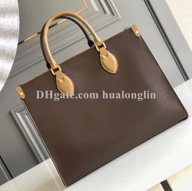 High Quality Fashion Women Shopping bag Tote woman handbag purse shoulder date code serial number flower big large