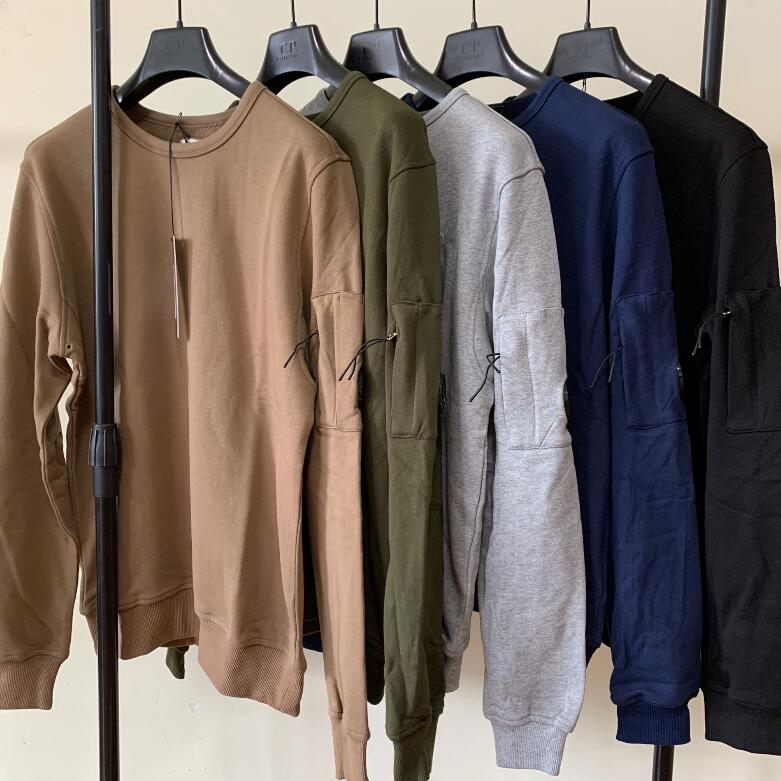 Men Crewneck Sweatshirt CP Street Fashion Designer Button Casual Sweater Top