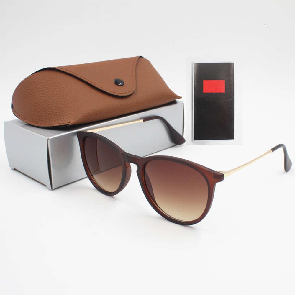 Fashion Sunglasses Eyewear Sun Glasses Designer Mens Womens Brown Cases Black Metal Frame Dark 50mm Lenses For