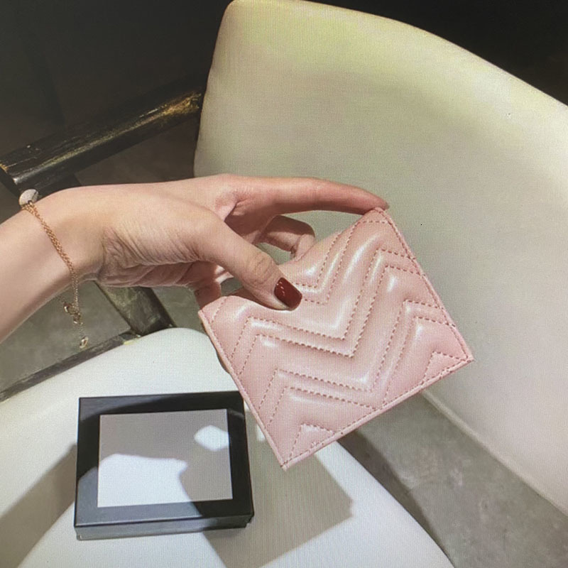 Wholesale 466492 Marmont Wallet Card Case Fashion Women Coin Purses Pouch Quilted Leather Mini Short Wallets Main Credit Card Holders Clutch