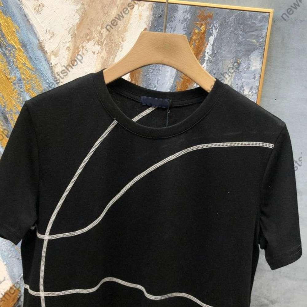 summer Luxury Designer for Mens T shirt Clothing Tshirt Geometric lines print T shirts Cooperation T shirt High Quality Casual Tops tee