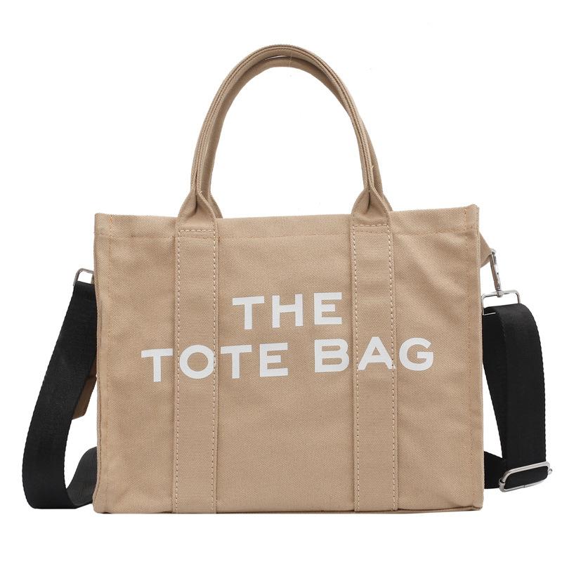 Women Shoulder Bags Canvas Large Tote Cloth Shopper for 2021 Letter Printing Crossbody Bag Handbag Ins
