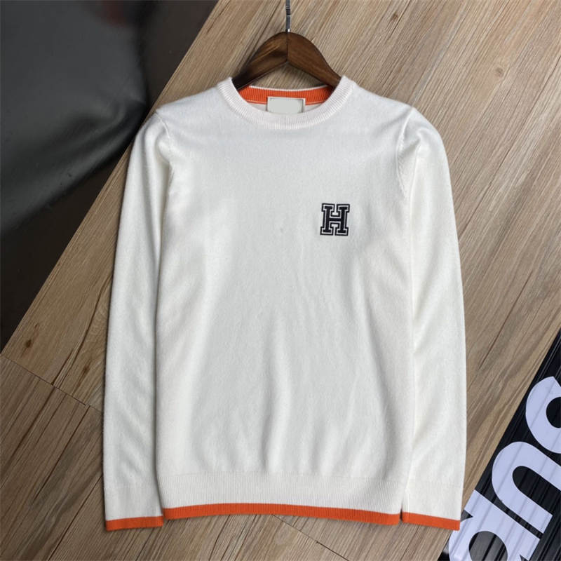hot Men's sweater letter embroidery knit sweater winter sports shirt round neck round neck long sleeve sweater female designer hoodie #283