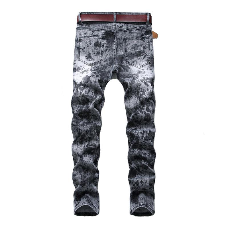 Mcikkny Mens Fashion Printed Jeans Pants Hip Hop Stretch Denim Trousers Male Streetwear (6)