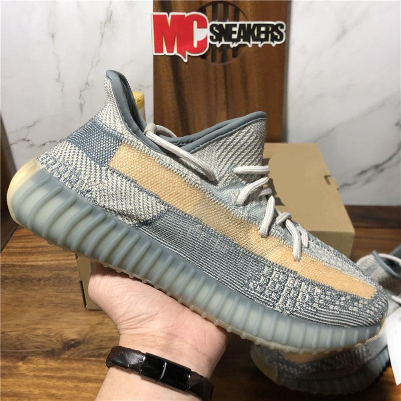 Top Quality Men Women 3M Static Black Reflective Kanye Running Shoes Ash Stone Blue Yecheil Yeezreel Cinder Tail Light Beluga Zebra Sport Trainer Sneakers With Box