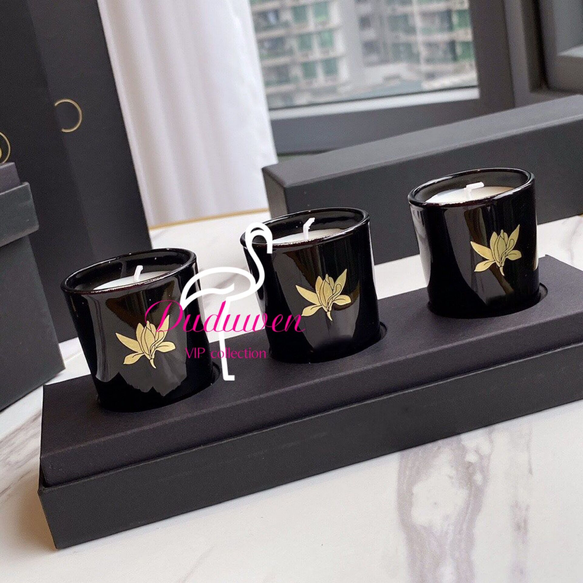 gift box set of 3 candles scented candle vip colllection C Home Decoration xmas gift