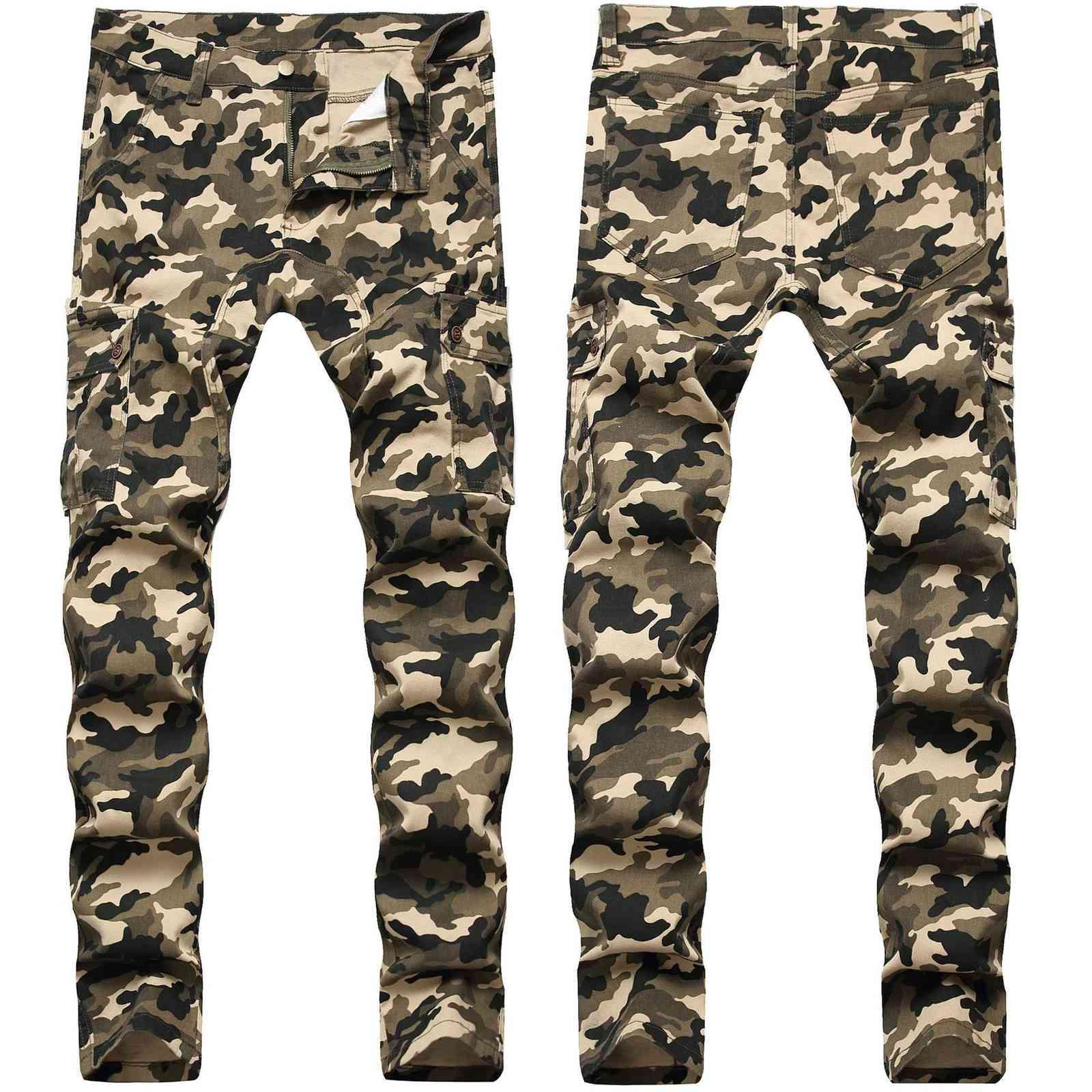 ny Mens Camo Jeans Cool Men Jeans Stretch Slim Fit Denim Biker Jeans Hip Hop Men Streetwear 755#