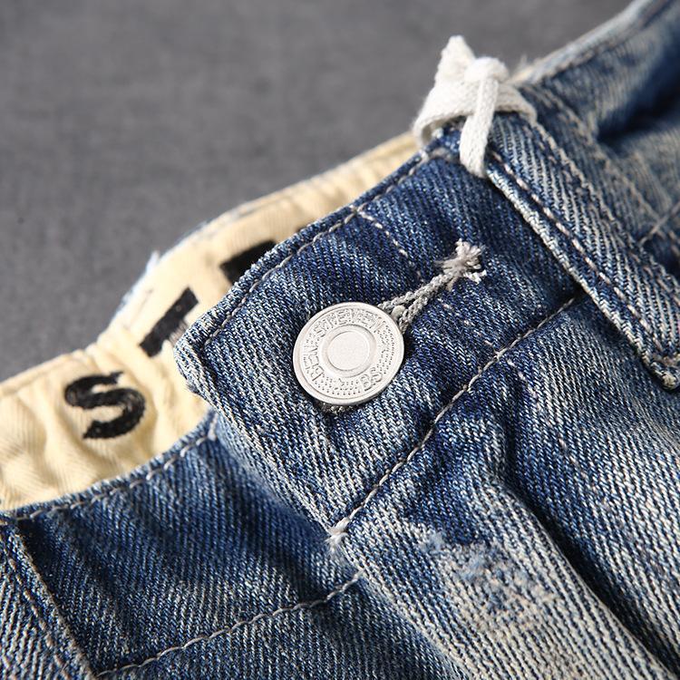 Mens Jeans Short Jeans Camouflage Pocket Cargo Pants Casual Slightly Shorts Fashion Denim Jeans Summer Shorts Pants