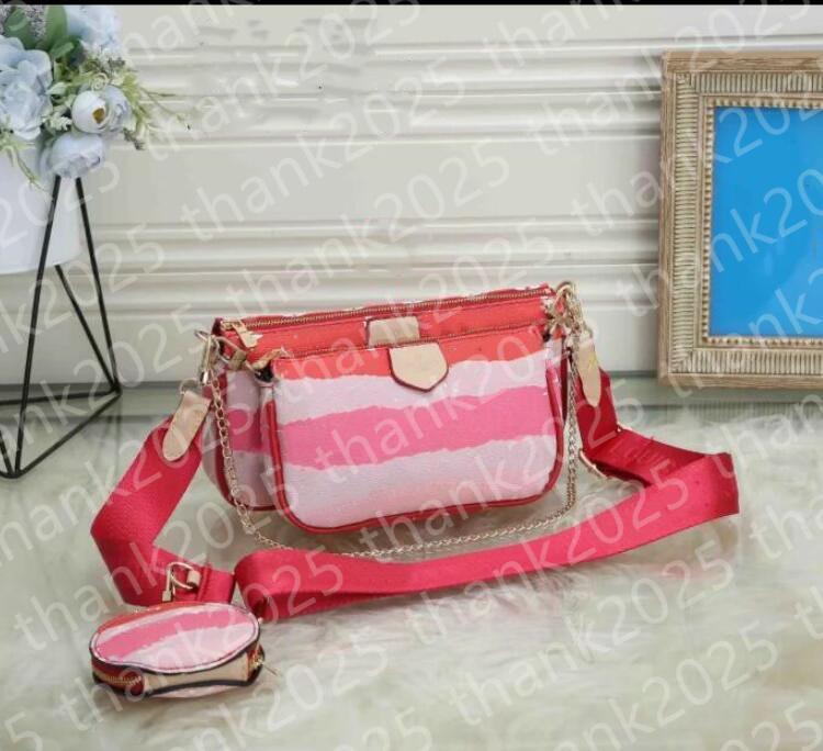 10 Colors womens new handbag fashion casual shoulder bag messenger bag wallet mobile phone three-piece combination bag free shopping