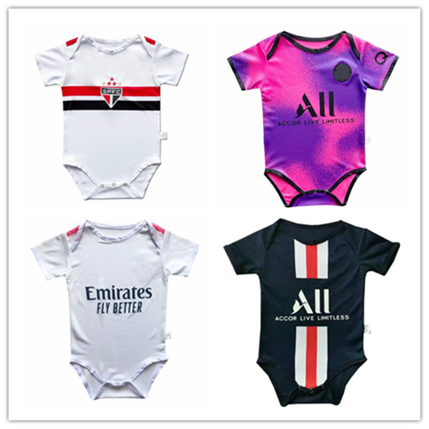 DHgate coupon: 2020/21 Baby jersey soccer Short Sleeved Jumpsuit 20 21 HAZARD RAMOS ASENSIO MBAPPE HIGUAIN 6-18 months baby football Jersey