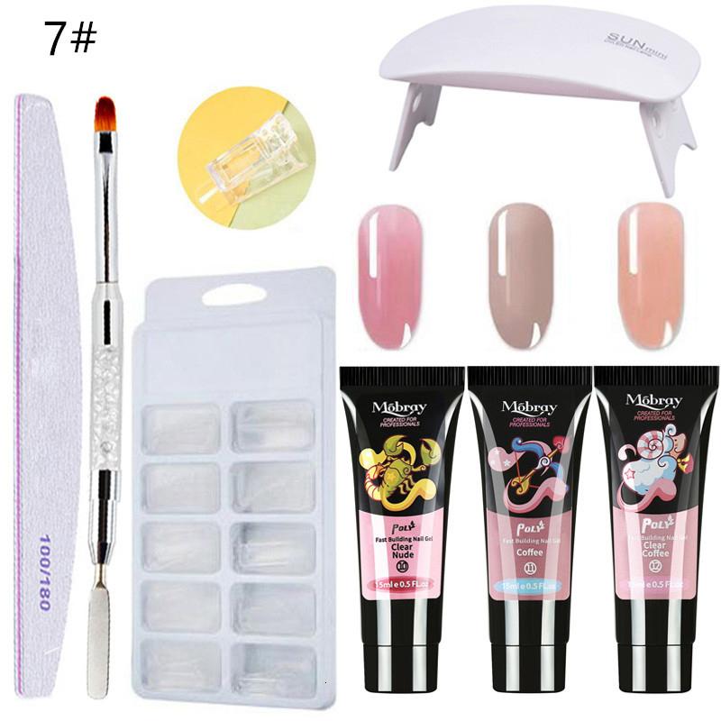 Poly Nail Gel kit LED Clear UV Gel Varnish Nail Polish Quick Building For Nails Extensions Builder Nail Art Kit