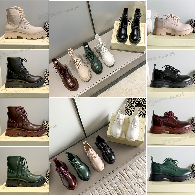 luxurious designer Fashion Winter Wanders boots classic Women Martin booties leather platforms heel ankle boot Top design ladies thick bottom shoes box size 35-40