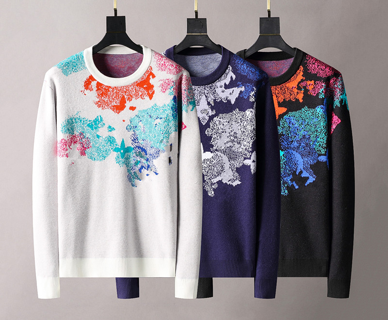 2021 Men's sweater letter embroidery knit sweater winter sports shirt round neck round neck long sleeve sweater female designer hoodie
