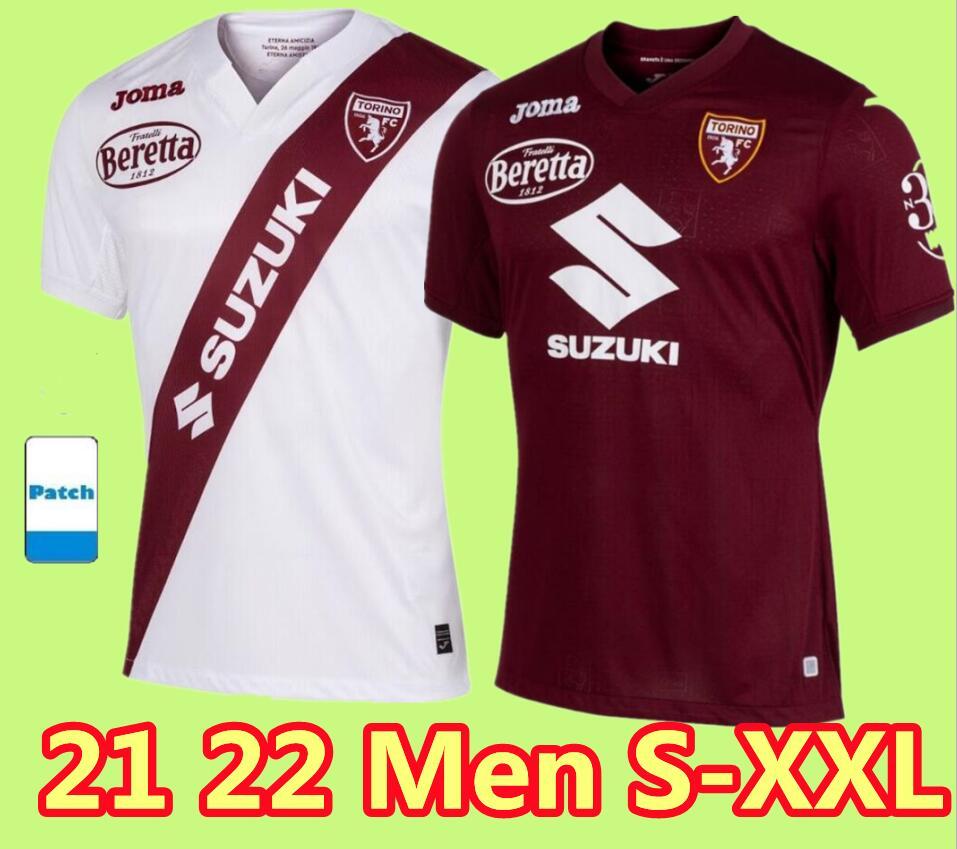 21 22 Torino FC maglia da calcio Turin BELOTTI IZZO FALQUE NKOULOU 2021 2022 New Soccer Jerseys home away Maillot de football shirt Thailand