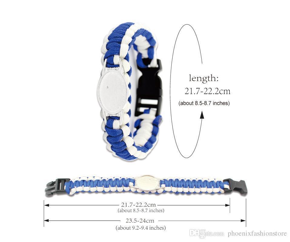 Custom Your Idea Paracord Bracelets for Survival Camping Essential Supplies Outdoor Sports Cool Women Men Bracelet OB1202