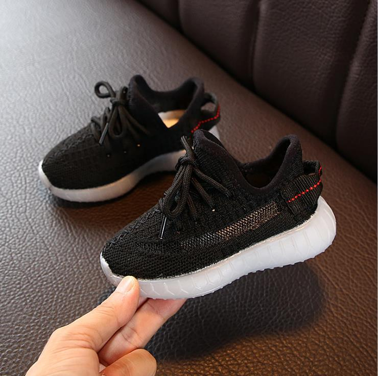 Kids Designer Sneakers Hiphop Brand Kanye West for Boys Girls Teens Active Breathable Running Trainers Eur 22-31