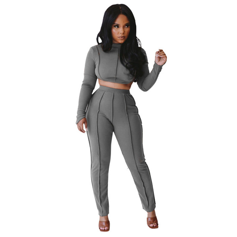 womens outfits two piece set jacket + legging casual stripe panelled sportswear jogger sport suit sweatshirt tights sports suit klw0534