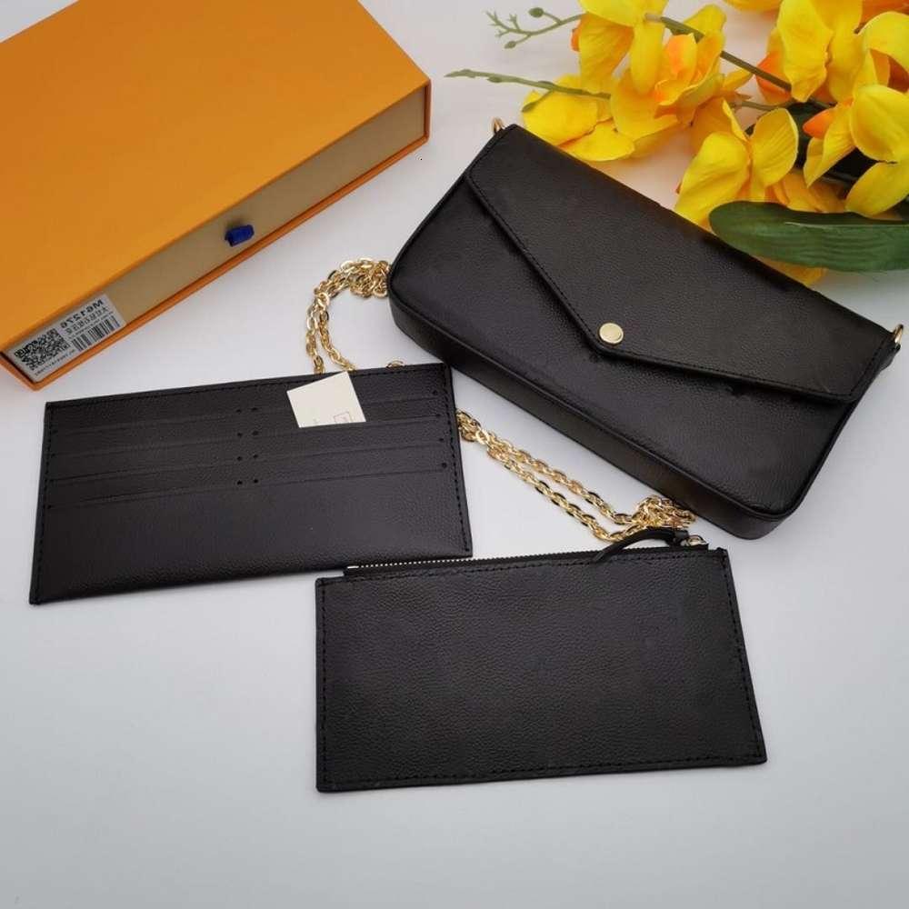 Classic Luxury designer handbag Pochette Felicie Bag Genuine Leather Handbags Shoulder handbag Clutch Tote Messenger Shopping Purse with boxWith logo