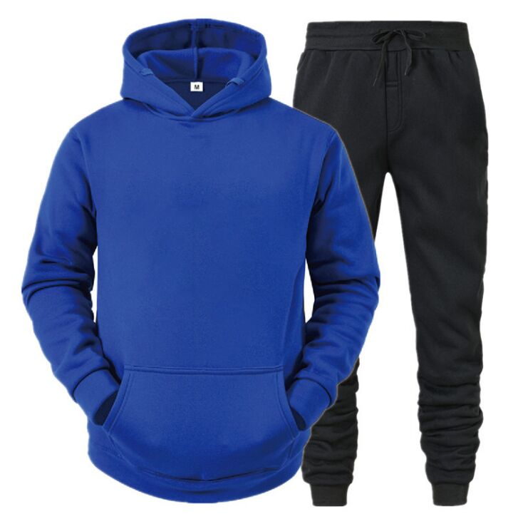 2021 Casual Tracksuit Men Hoodies And Pants Two Piece Sets letter Printed Hooded Sweatshirt Outfit Sportswear Male Suit Clothing Plus Size S-XXXL