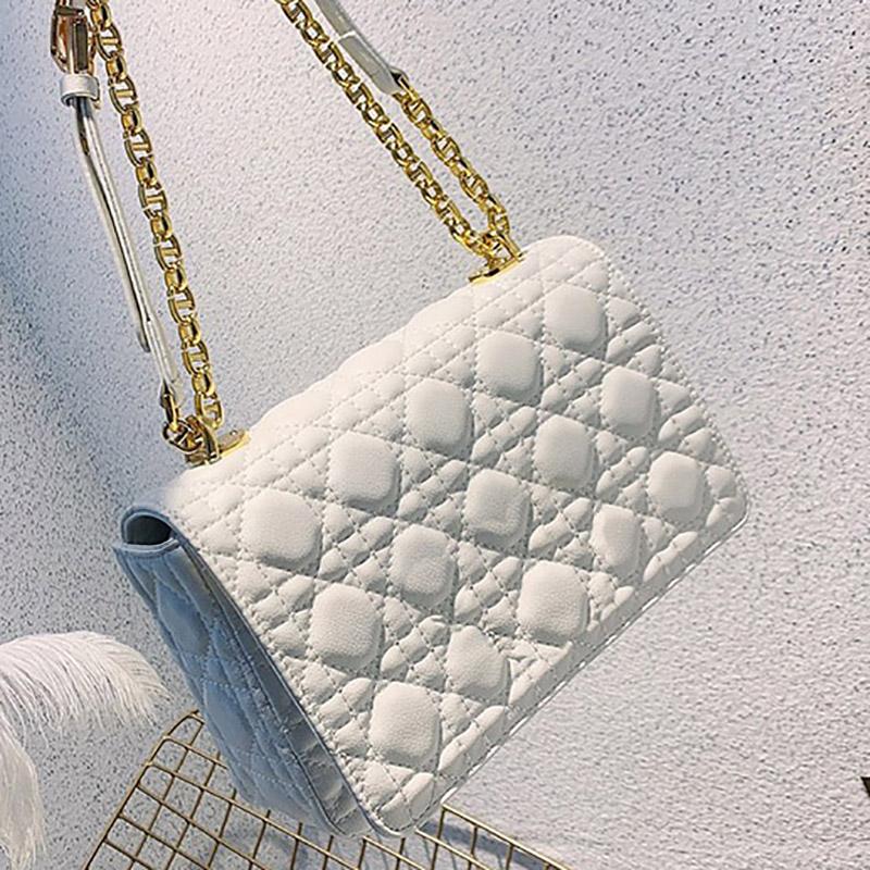 High Quality Genuine Leather Handbags Fashion Women Shoulder Bag Chain Messenger Crossbody Mini Handbag Gold Chains Waist Bags Cross Body