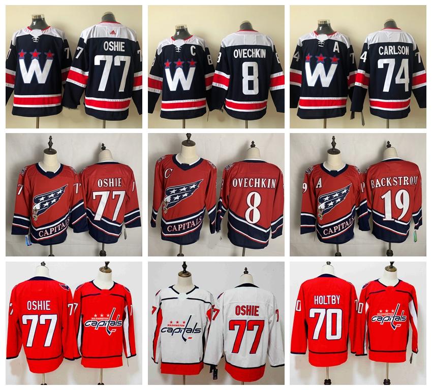 WashingtonCapitals Hockey Jerseys 8 Alexander Ovechkin 19 Nicklas Backstrom 0 Braden Holtby 77 T. J. Oshie 92 Evgeny Kuznetsov 0407
