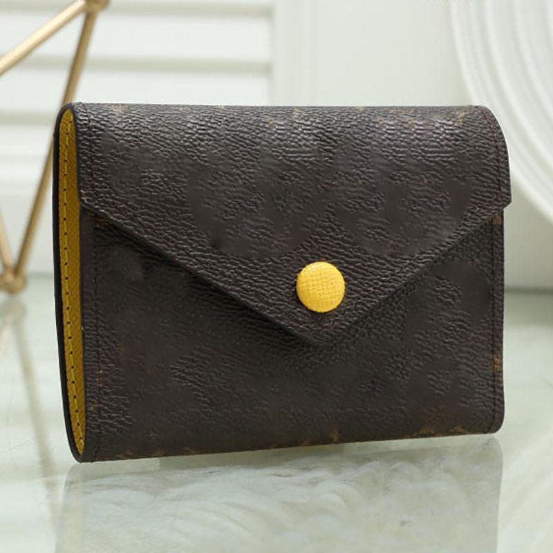 Fashion Card Holder Top Quality Women Short Wallet Discount Original Box Cardholders Brand Designer Damier Checked Flower Women's Purse