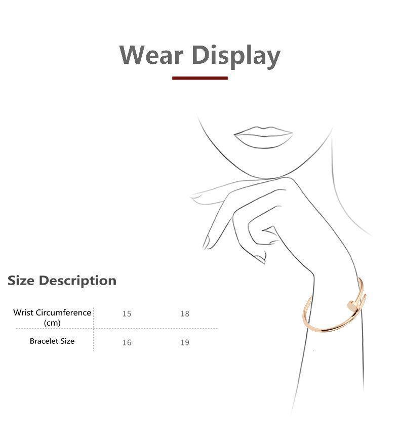 nail bracelet mens gold bracelet fashion jewelry women bracelets 316L Stainless steel Gold-Plated never fade,Not allergic