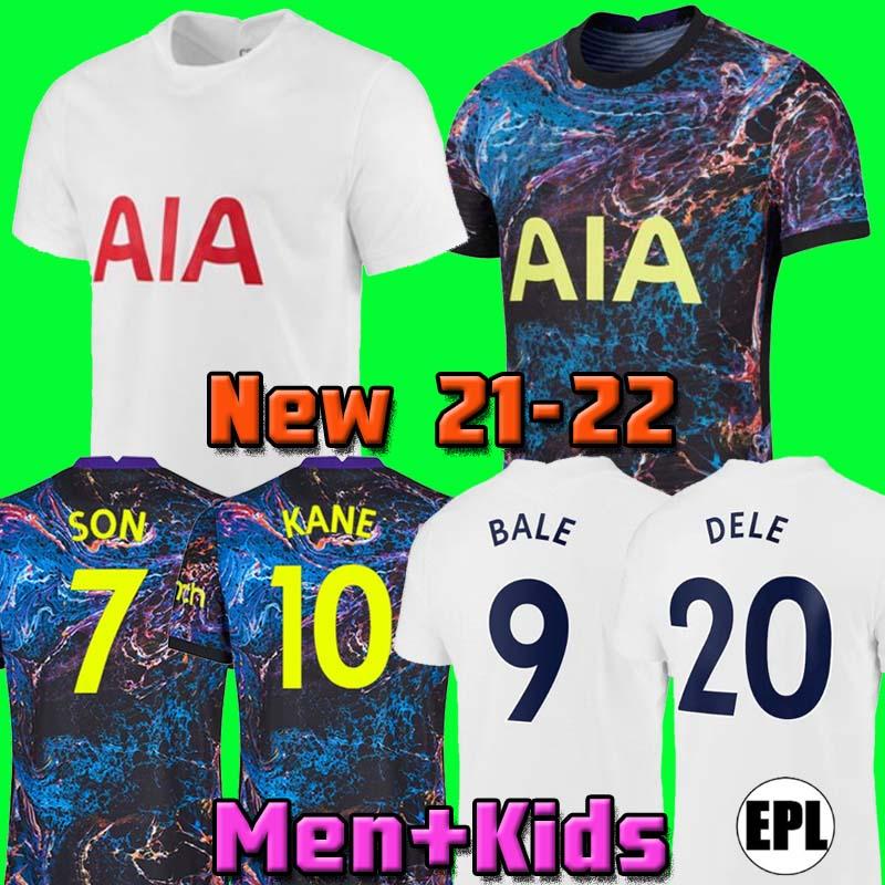 21 22 DELE SON TOTTENHAM BALE KANE soccer jersey HOJBJERG BERGWIJN LO CELSO SPURS 2021 2022 LUCAS football shirt uniforms men + kids kit