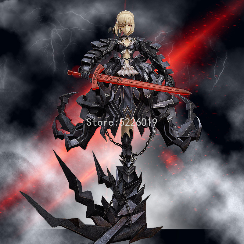 33cm Fate/Stay Night Sexy Anime Figure The King Black Saber Huke Ver. Sexy Figure The King Black Dress Saber Action Figure Toys K86
