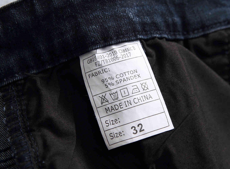 Skinny Mens Blue Jeans Cool Men Jeans Stretch Slim Fit Straight Denim Biker Jeans Hip Hop Men Streetwear 1981#