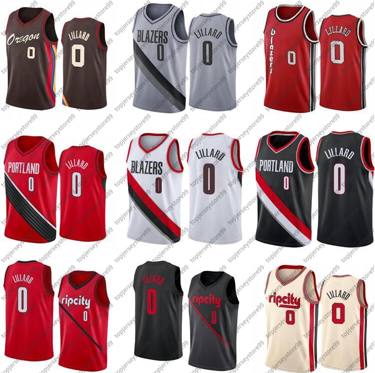 100% Stitched 0 Damien Lillard Jersey Green White Black Blue Red City Sleeveless Wear And Shorts Men Basketball Jerseys Breathable