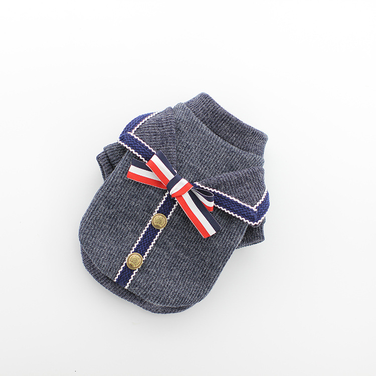 Pet Dog Sweater Autumn Winter Clothes Teddy Small Dog Cat Clothes College Style Elegant Bowknot Teddy Chihuahua Puppy Pet Dog Accessories